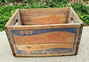 Vtg 1940and039s Pepsi Cola Double Dot Wooden Crate Box Soda Advertising Sign 5 Cent