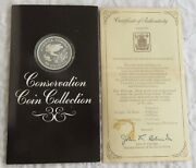 Costa Rica 1974 Green Turles Silver Proof 50 Colones - Pack/coa