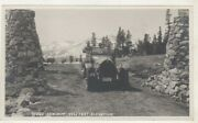 1920's Photo Tioga Summit 9961 Feet Elevation Inyo National Forest With Old Car
