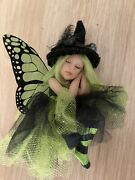 The Fairy Maker Special Edition Large Witch Fairy In Green And Black