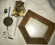 """Antique 1874 Wm L. Gilbert """"admiral"""" Clock Movement And Parts With Pendulum"""