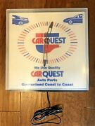 Carquest Advertising Wall Clock Sign Auto Parts Dealer Garage Electric