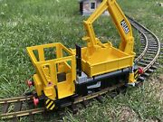 Vintage Playmobile Powered Track Maintenance Vehicle With Backhoe Lgb G-scale