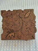 Antique Brass Hand Carved Handheld Textile Printing Block With Handle