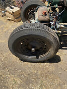 4 Vintage Ford 1930's Wheels 600-16 With Well Used Tires