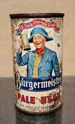 1953 Rare White Non Irtp 2-sided Burgermeister Flat Top Beer Can San Francisco