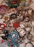 Huge Estate Fashion Costume And Signed Jewelry All Wearable Vintage To Modern