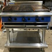 Blue Seal 90cm Gas Char Grill And Griddle With Stand
