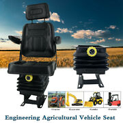 New Universal Lawn Mower Seat Suspension Seat For Tractor Forklift Loader Dozer