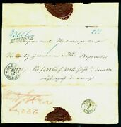 1860 Recepisse,moldova,jassy To Roman,front+backside/cut/part Cover