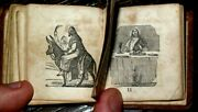 1851 Holy Bible Miniature Thumb Mini Illustrated American Antique Leather Book