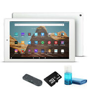 Fire Hd 10 Inch Tablet - 64 Gb 2019 Wi-fi, White With 64gb Micro Sd Card