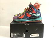 """100 Authentic Nike Lebron 10 """"what The Mvp"""" Mens Size 10.5"""