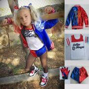 Girl Kids Women Harley Quinn Suicide Squad Halloween Costume Cosplay Outfit Suit