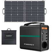 166- 518wh Solar Generator Portable Power Station With 100w Foldable Solar Panel