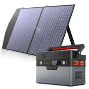 666wh Solar Generator Portable Power Station With 18v 100w Foldable Solar Panel