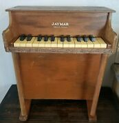 Jaymar Wood Childrenand039s Toy Piano 25 Keys 1940and039s Vintage Working Keys Antique