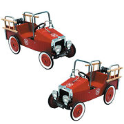 Great Gizmos Kids Classic Vintage Red Fire Engine Truck Childrens Pedal Car Toy