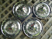 Four 1962 62 Chevrolet Chevy Impala Ss Hubcaps Wheel Covers Antique Vintage