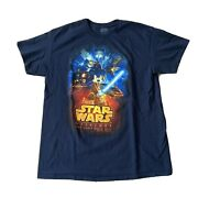 Nwot Disney Parks Star Wars Weekends 2015 Mickey Mouse Blue Menandrsquos T-shirt Large