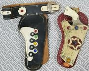 Gene Autry Cap Gun Champion W Studded Holster Plus Double Holster Toy Replica