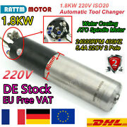 〖eu〗 1.8kw 220v Atc Spindle Iso20 Automatic Tool Changer Cnc Water Milling Motor