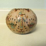 Navajo Native American Indian Pottery Vase By Nancy Chilly Signed Nac