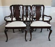 Kindel Oxford Mahogany Queen Anne Dining Chairs Set Of 8 Super Clean