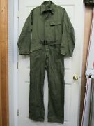 Ww2 Us Hbt Coveralls Suit One Piece Special Od No 7 13 Star Buttons 40r Tanker