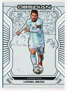 2020-21 Obsidian Lionel Messi Electric Etch Contra 46 4/9