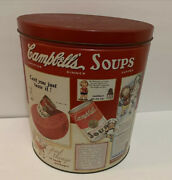 """Vintage 1991 Campbell's Soup Tin Can Empty 11""""l X 9.75""""w Container Storage"""