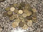 Lot Of 10 1957-67 Un Peso 10 Silver Large Coins Random Mixed Dates See Pic