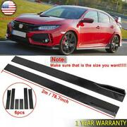 78.7and039and039 Gloss Black Side Skirt Extension Lip Rocker For Honda Civic 2000-2021 New