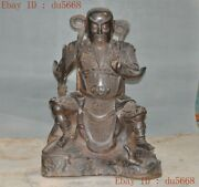 24old Chinese Taoism Bronze Zhenwu Emperor Jinque Incarnation People God Statue