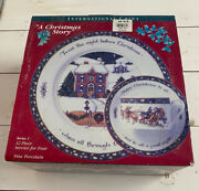Susan Winget A Christmas Story 12 Pc Dinner Plates Cups Saucers Series 1 Nb Read