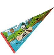 1958 1965 Peanuts Camp Snoopy Knotts Berry Farm Banner Flag Pennant Schulz