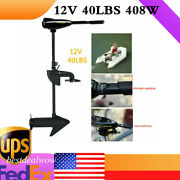12v 40lb Electric Trolling Motor Inflatable Fishing Boats Engine Outboard Drive