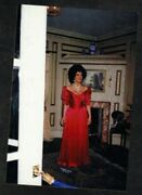Vintage Photograph Sexy Young Woman In Red Dress - Museum - Elizabeth Taylor