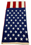 Valley Forge Best Cotton 50 Star 5and039 X 10and039 Cotton Sewn American Flag Made In Usa