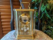 Vintage Montreux Moon Phase Germany Anniversary Clock For Parts Or Repair