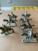 Rare Edward Suren Willie Metal Lead Horse Figures And Riders 1960s/70 Unpainted