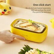 Midea X Pokemon Electric Heating Lunch Box Portable 304 Stainless Steel Dual Lay