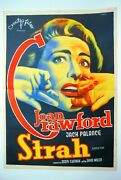 Sudden Fear Horror Joan Crawford 1952 Palance Unique Rare Exyugo Movie Poster