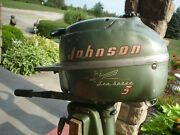 Vintage Johnson Sea-horse 3 Hp Model Jw-10 Nice Collectable 50and039s Outboard Motor