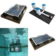 Savior 10000 Gal. Solar Powered Pool Pump With Floating Cartridge Filter System
