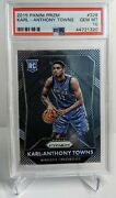 2015 Panini Prizm Karl-anthony Towns 328 Rookie Rc Psa 10 Gem Mint Twolves