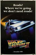 Back To The Future 2 Original Commercial Movie Poster One Sheet 1989 Sci-fi