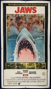 Jaws Three Sheet Indian Movie Poster 1975 Horror Great White Shark Linenbacked