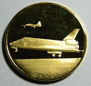 1981 Columbia Space Shuttle Gold Gilt Medal 0518