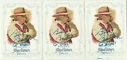 Bobby Bowden Signed With Go Noles 2013 Allen And Ginterand039s Card Lot Of 3 - Read